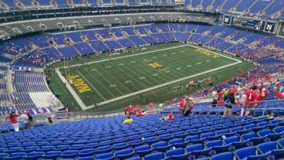 M&T Bank Stadium, secção: 505, fila: 31, lugar: 13