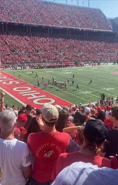 Ohio Stadium, secção: 11A, fila: 24, lugar: 13