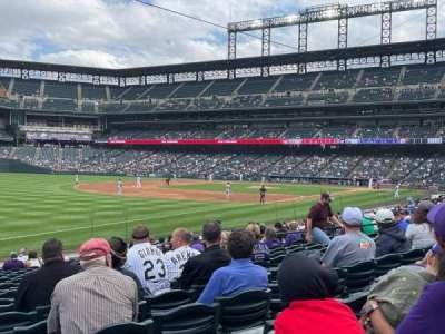 Coors Field, secção: 145, fila: 18, lugar: 18