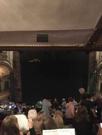 Palace Theatre (Broadway), secção: Rear Mezzanine, fila: M, lugar: 104