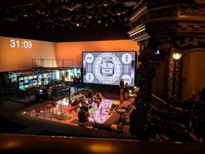 Belasco Theatre, secção: Mezzanine R, fila: A, lugar: 14