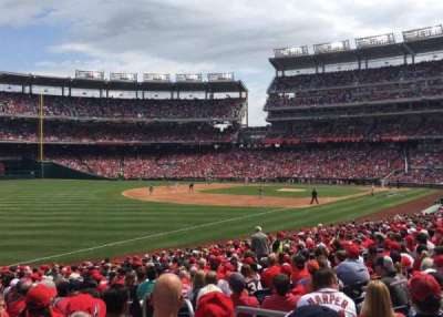 Nationals Park, secção: 109, fila: DD, lugar: 3