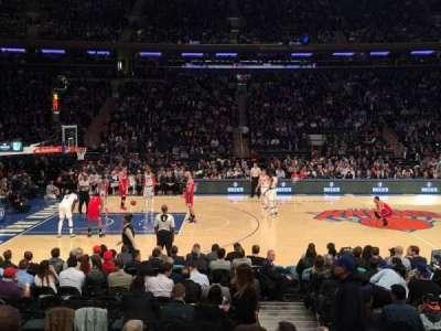 Madison Square Garden, secção: 116, fila: 7, lugar: 19