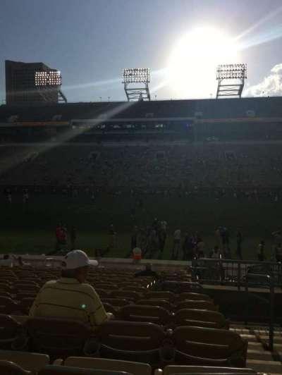 Bobby Dodd Stadium, secção: CL-2, fila: 18, lugar: 28