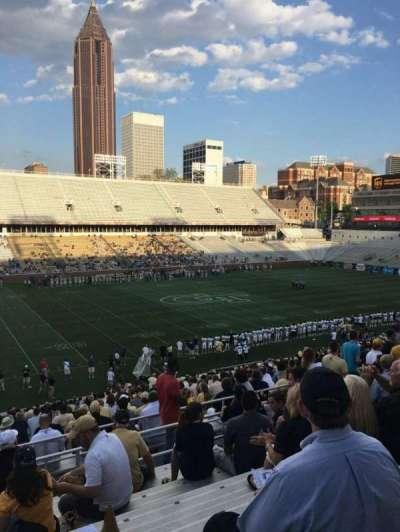 Bobby Dodd Stadium, secção: 109, fila: 38, lugar: 24