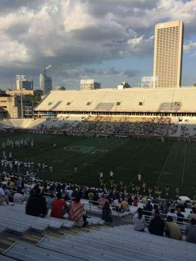 Bobby Dodd Stadium, secção: 103, fila: 44, lugar: 19