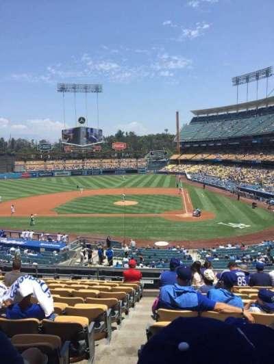 Dodger Stadium, secção: 119LG, fila: L, lugar: 7
