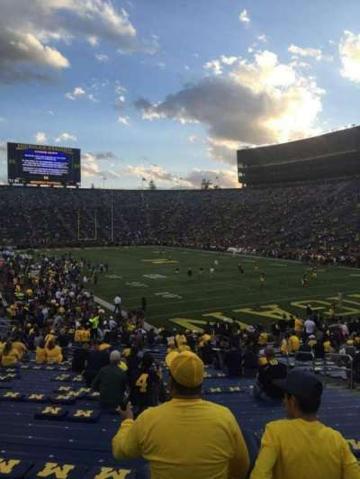 Michigan Stadium, secção: 37, fila: 34, lugar: 3