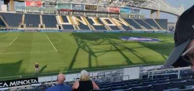 Talen Energy Stadium, secção: 111, fila: s, lugar: 10