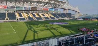 Talen Energy Stadium, secção: 111, fila: s, lugar: 9