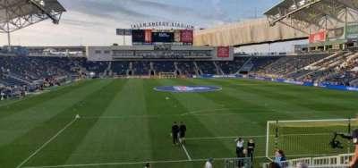 Talen Energy Stadium, secção: 138, fila: L, lugar: 10