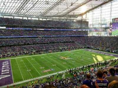 U.S. Bank Stadium, secção: 215, fila: 6, lugar: 13