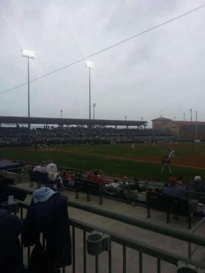 Osceola County Stadium, secção: 218, fila: 10, lugar: 2