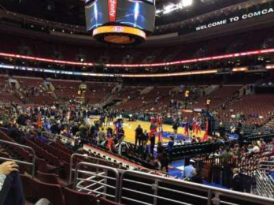 Wells Fargo Center secção 104