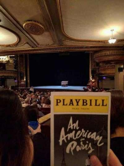 Palace Theatre (Broadway), secção: Orchestra Right, fila: S, lugar: 6