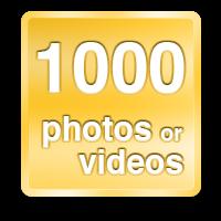 1000 photos or videos