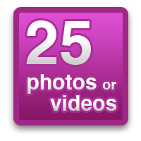 25 photos or videos