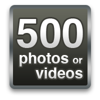 500 photos or videos