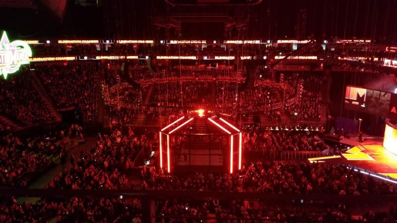 Vista sentada para T-Mobile Arena Secção 223 Fila A Lugar 12