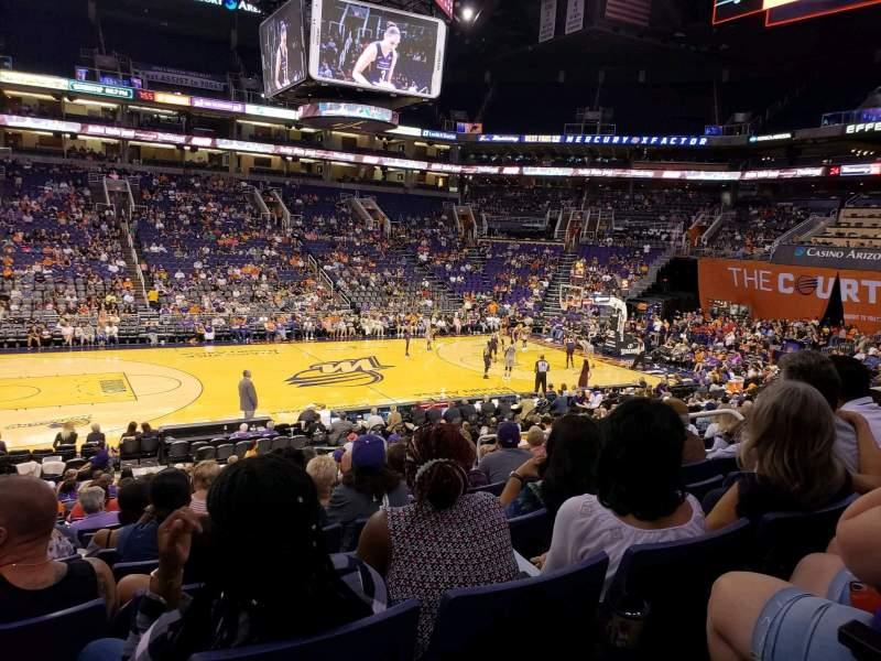 Vista sentada para PHX Arena Secção 103 Fila 19 Lugar 10