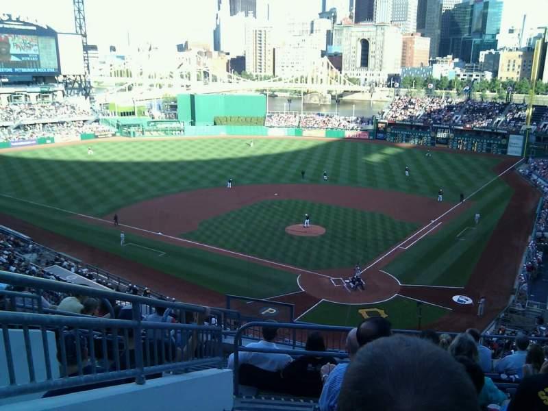 Vista sentada para PNC Park Secção 217 Fila j Lugar 17
