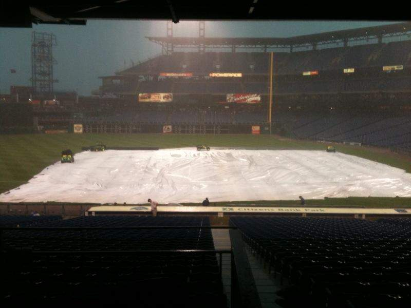 Vista sentada para Citizens Bank Park