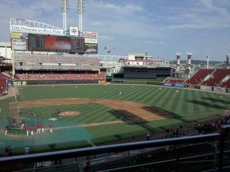 Vista sentada para Great American Ball Park Secção 301