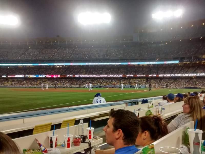 Vista sentada para Dodger Stadium Secção 41BL Fila 4 Lugar 3-4