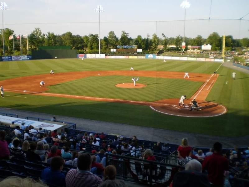 Vista sentada para State Mutual Stadium Secção 206 Fila 12 Lugar 1