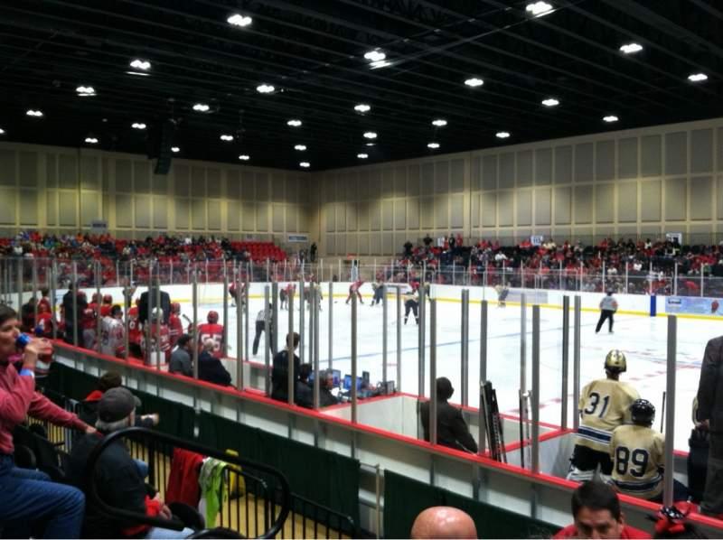 Vista sentada para Akins Ford Arena at The Classic Center Secção 103 Fila E Lugar 12