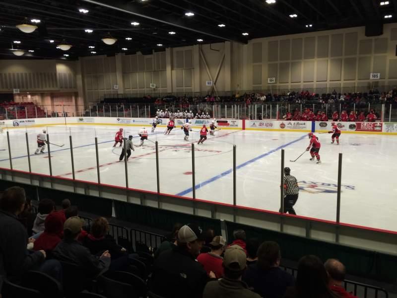 Vista sentada para Akins Ford Arena at The Classic Center Secção 113 Fila G Lugar 18