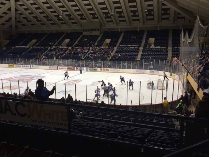 Vista sentada para Macon Coliseum Secção 219 Fila H Lugar 2