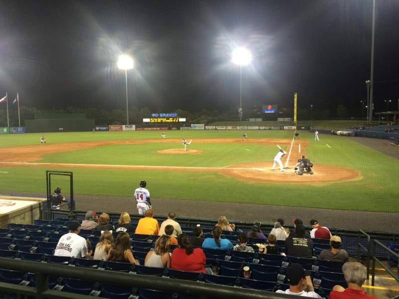 Vista sentada para State Mutual Stadium Secção 206 Fila 2 Lugar 2
