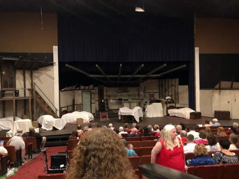 Vista sentada para DeSoto Theater Secção Loge Left Fila J Lugar  117