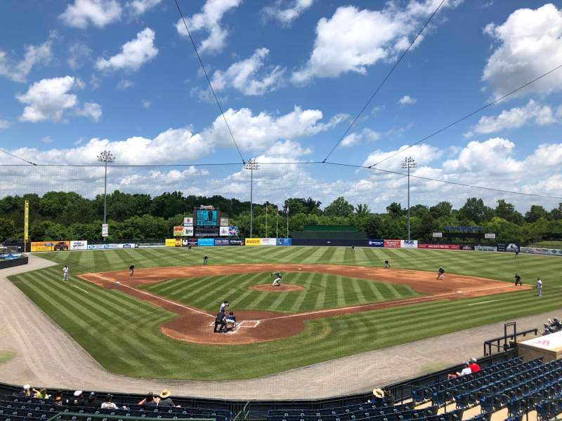Vista sentada para State Mutual Stadium Secção 201 Fila 10 Lugar 3