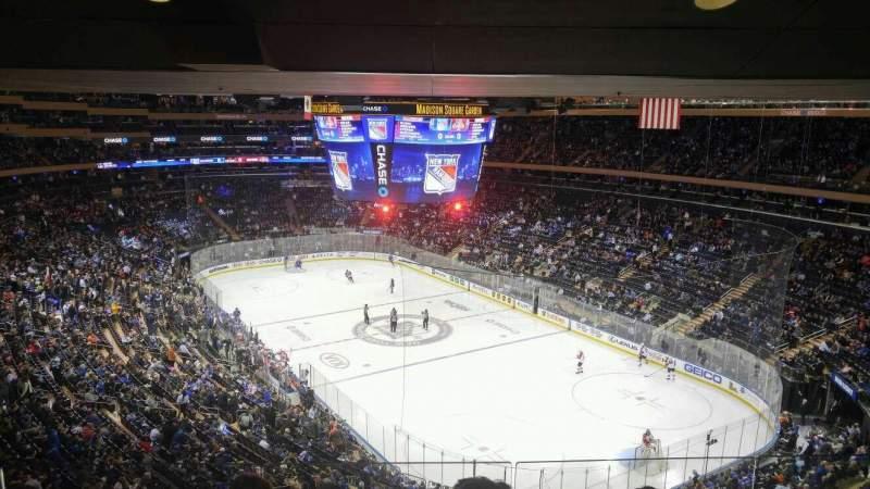 Vista sentada para Madison Square Garden Secção 414 Fila 4 Lugar 8