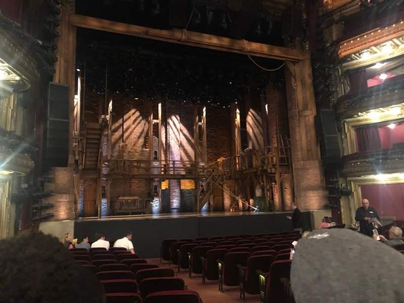 Vista sentada para CIBC Theatre Secção Orchestra L Fila Q Lugar 1/3