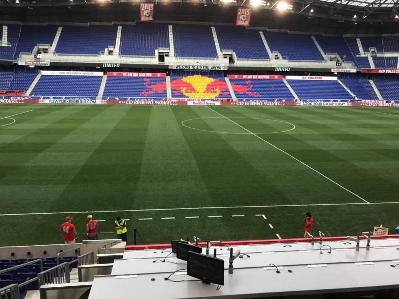 Vista sentada para Red Bull Arena (New Jersey) Secção 110 Fila 14 Lugar 24