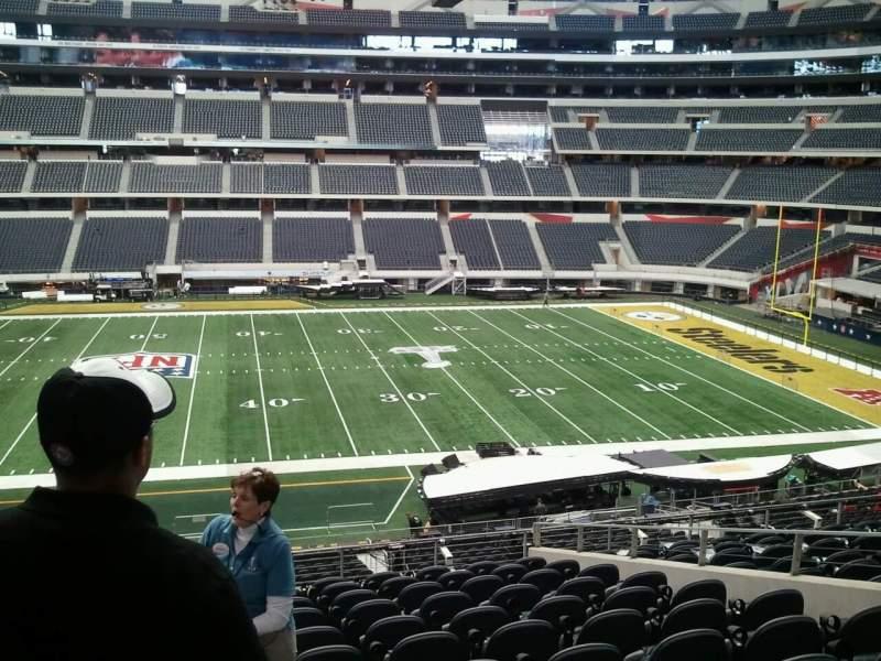 Vista sentada para AT&T Stadium Secção C210 Fila 9 Lugar 20