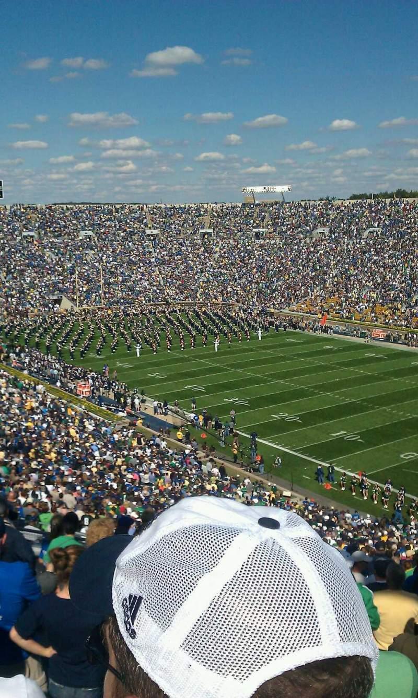 Vista sentada para Notre Dame Stadium Secção 123 Fila 21 Lugar 8