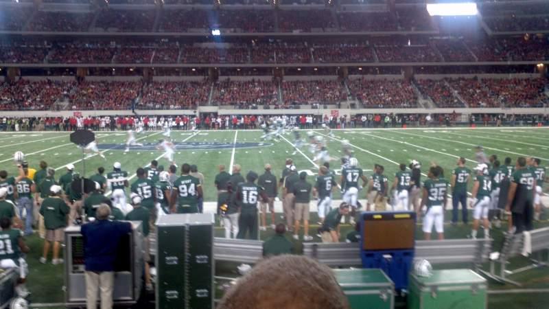 Vista sentada para AT&T Stadium Secção C110 Fila 2 Lugar 12