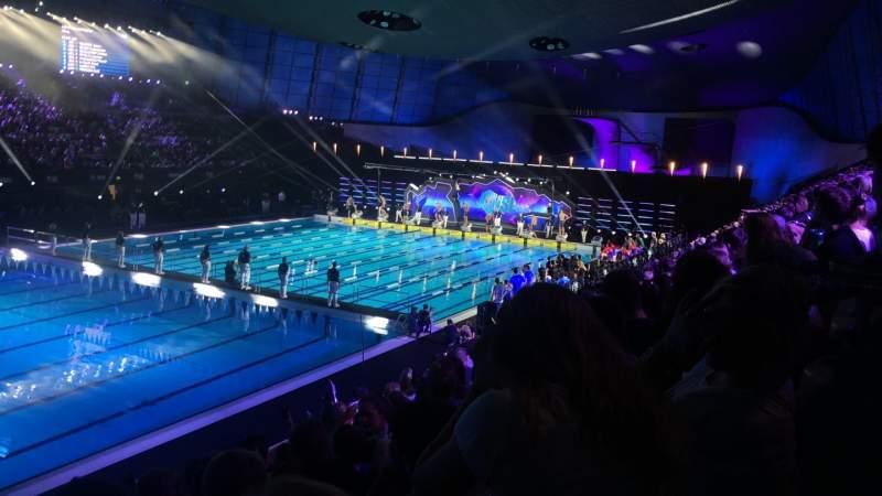 Vista sentada para London Aquatics Centre Secção F Fila 8 Lugar 163