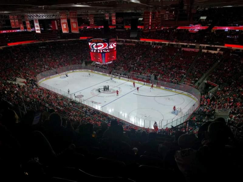Vista sentada para PNC Arena Secção 320 Fila J Lugar 3