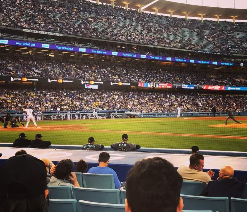 Vista sentada para Dodger Stadium Secção Field Box MVP 20 Fila C