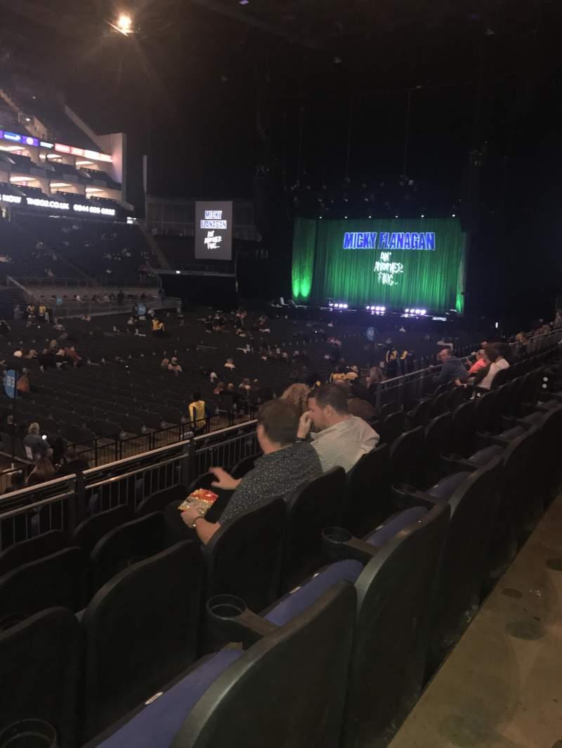 Vista sentada para The O2 Arena Secção 110 Fila M Lugar 305