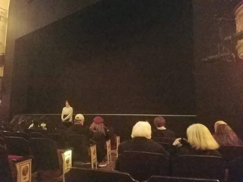 Vista sentada para Bernard B. Jacobs Theatre Secção Orchestra L Fila G Lugar 6