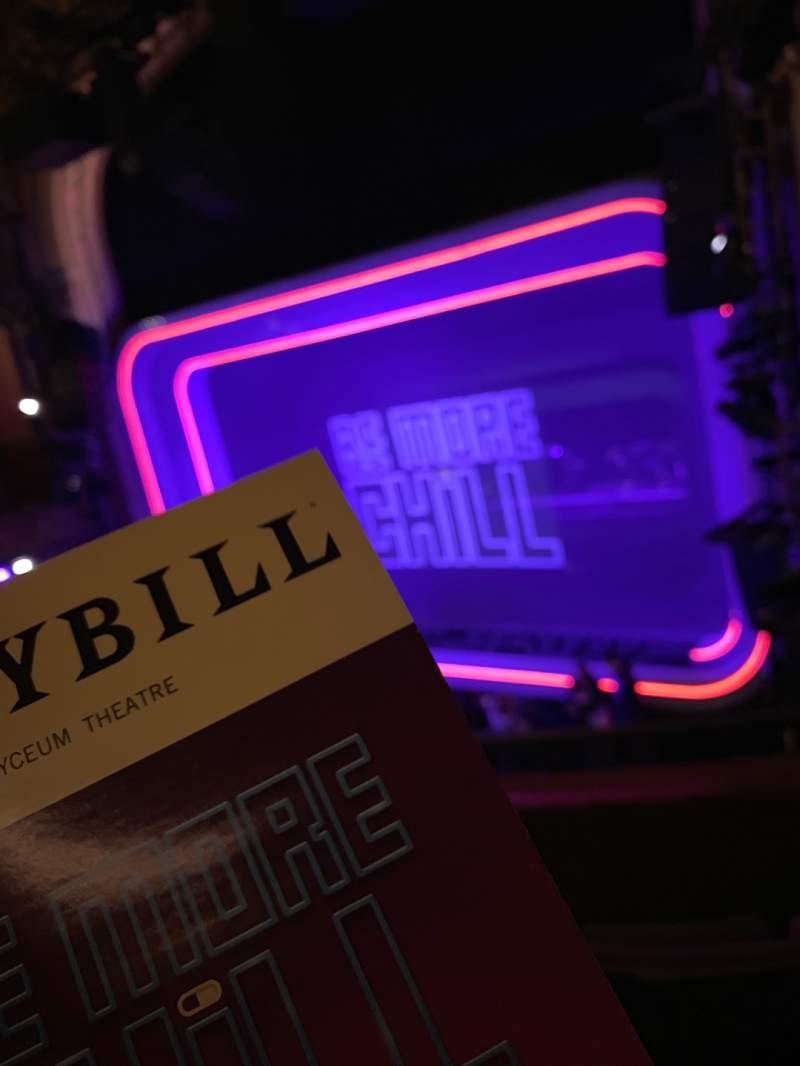 Vista sentada para Lyceum Theatre (Broadway) Secção MEZZR Fila C Lugar 16