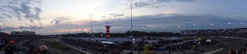 Vista sentada para Richmond International Raceway Secção VEC Fila 7 Lugar 26