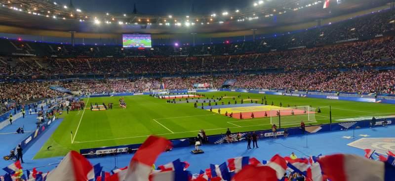 Vista sentada para Stade de France Secção Y10 Fila 25 Lugar 32