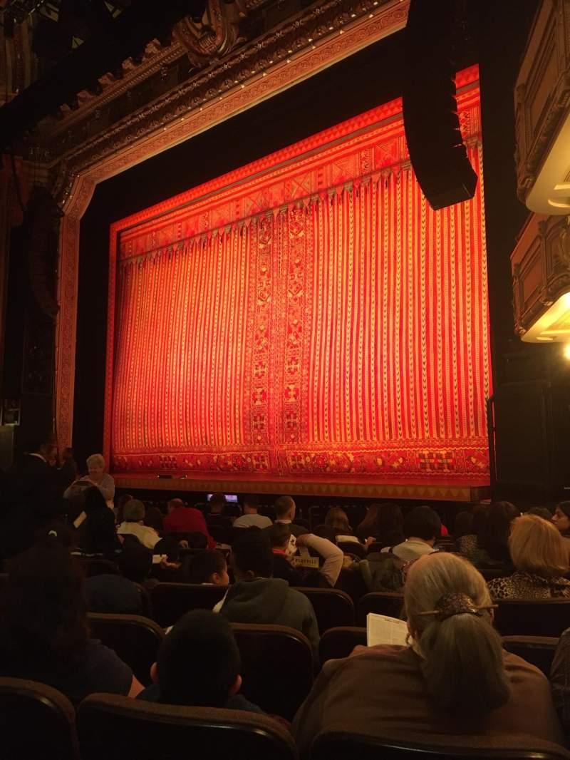 Vista sentada para Hippodrome Theatre Secção Right orchestra Fila M Lugar 20 and 22